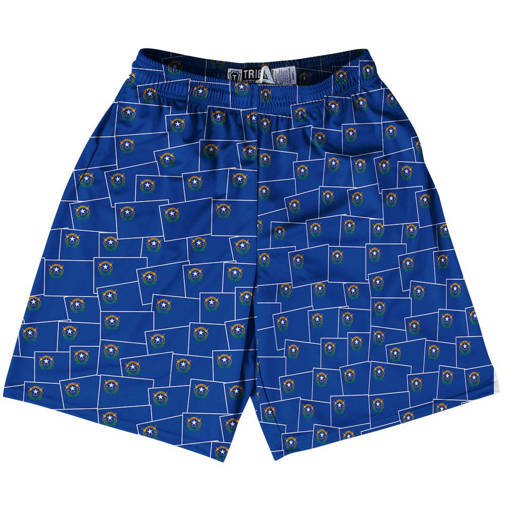 Tribe Nevada State Party Flags Lacrosse Shorts by Tribe Lacrosse