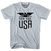Made in New York Vintage Eagle T-shirt in White by Mile End Sportswear