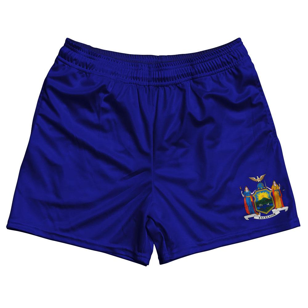 New York State Flag Rugby Shorts Made In USA by Ruckus