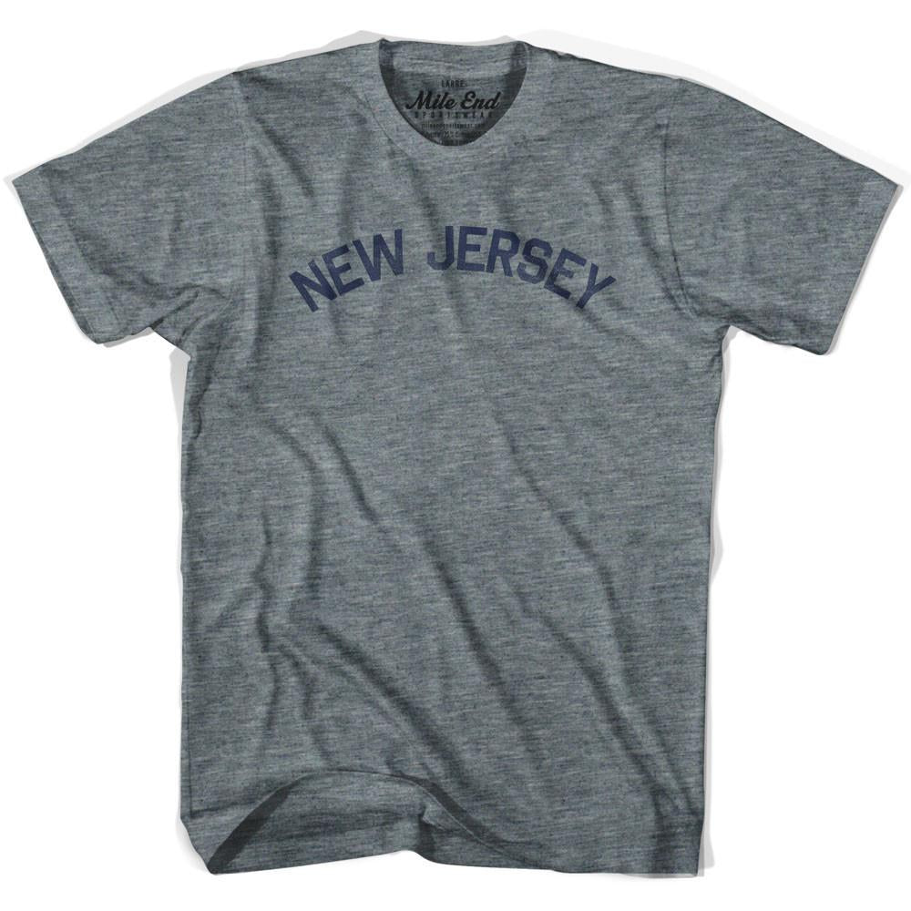 New Jersey Union Vintage T-shirt in Athletic Blue by Mile End Sportswear