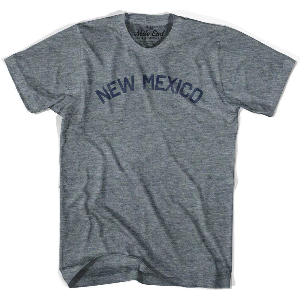 New Mexico Union Vintage T-shirt in Athletic Blue by Mile End Sportswear