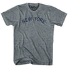 New York Union Vintage T-shirt in Athletic Blue by Mile End Sportswear