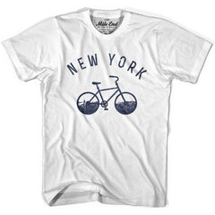 New York Bike T-shirt in Heather Grey by Mile End Sportswear
