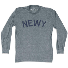 Newy City Long Sleeve Vintage T-shirt in Athletic Grey by Mile End Sportswear