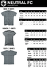 Brazil BRA Soccer Country Code T-shirt in White by Neutral FC