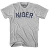 Niger City Vintage T-shirt in Grey Heather by Mile End Sportswear