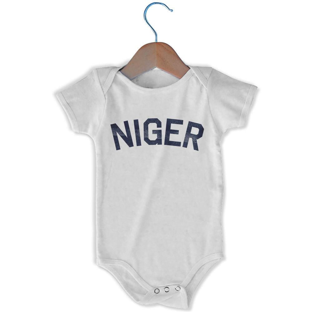 Niger City Infant Onesie in White by Mile End Sportswear