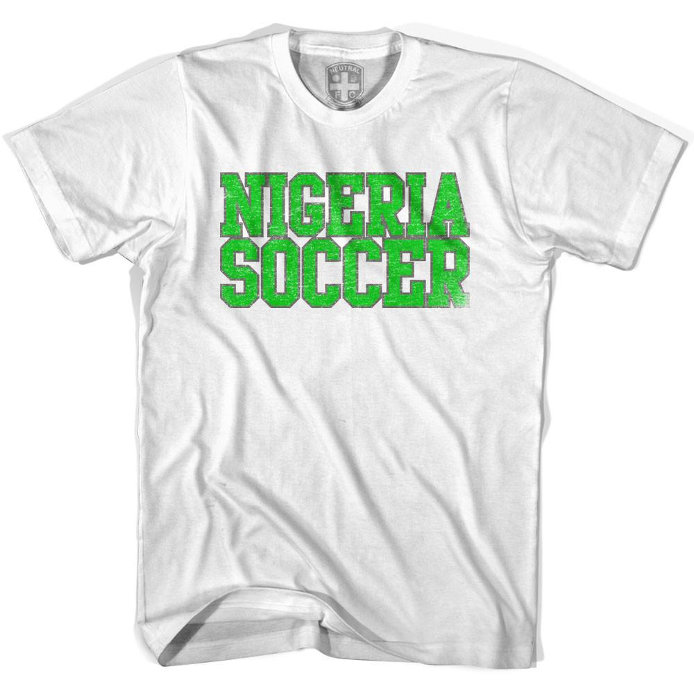 Nigeria Soccer Nations World Cup T-shirt in White by Neutral FC