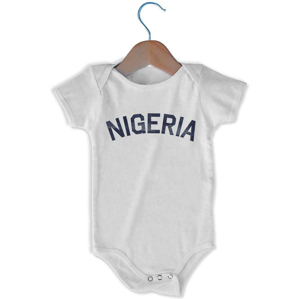Nigeria City Infant Onesie in White by Mile End Sportswear