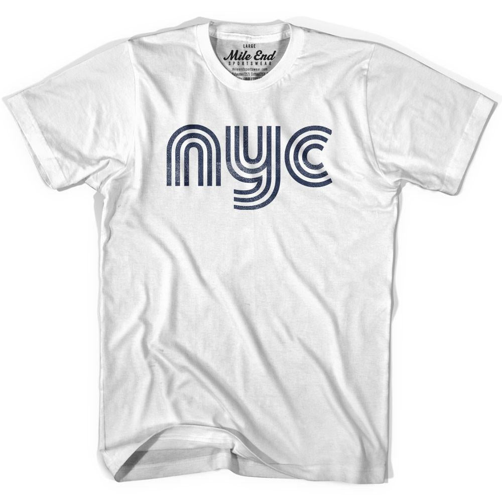 New York NYC Vintage T-shirt in Grey Heather by Mile End Sportswear