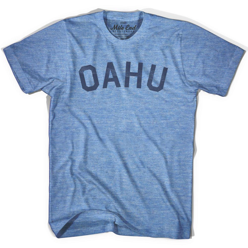 Oahu City Vintage T-shirt in Athletic Blue by Mile End Sportswear