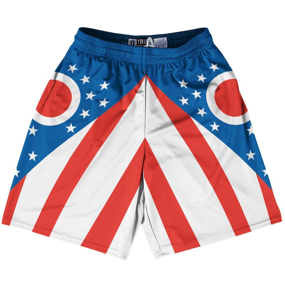 "Ohio State Flag 9"" Inseam Lacrosse Shorts by Tribe Lacrosse"