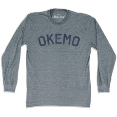 Okemo City Vintage Long Sleeve T-shirt in Athletic Grey by Mile End Sportswear