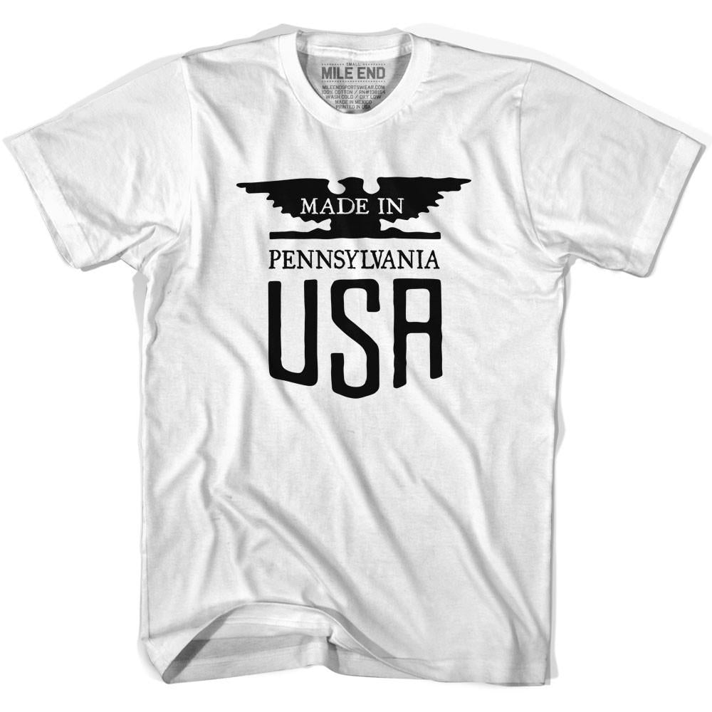 Made in Pennsylvania Vintage Eagle T-shirt in White by Mile End Sportswear