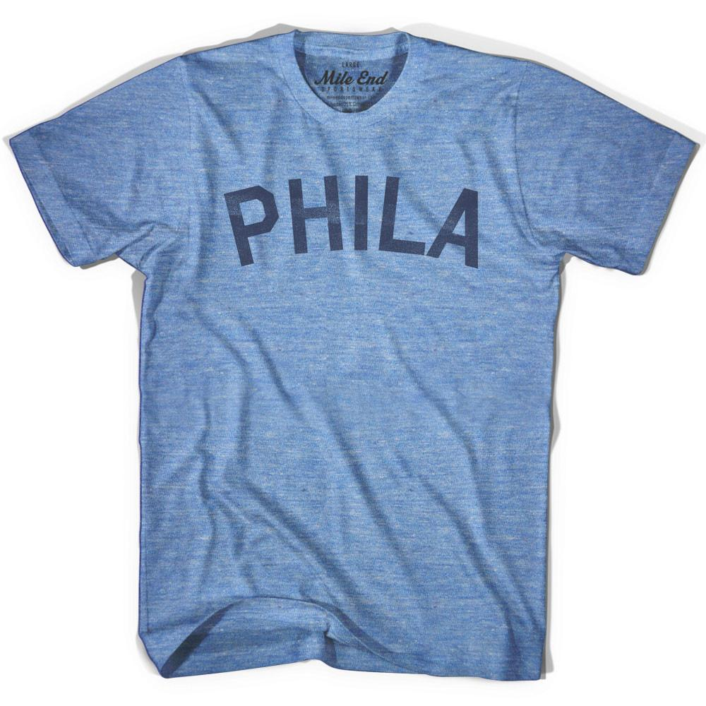 Phila City Vintage T-shirt in Athletic Blue by Mile End Sportswear