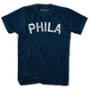Phila Vintage City T-shirt in Navy by Mile End Sportswear