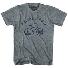 Philadelphia Bike T-shirt in Athletic Blue by Mile End Sportswear