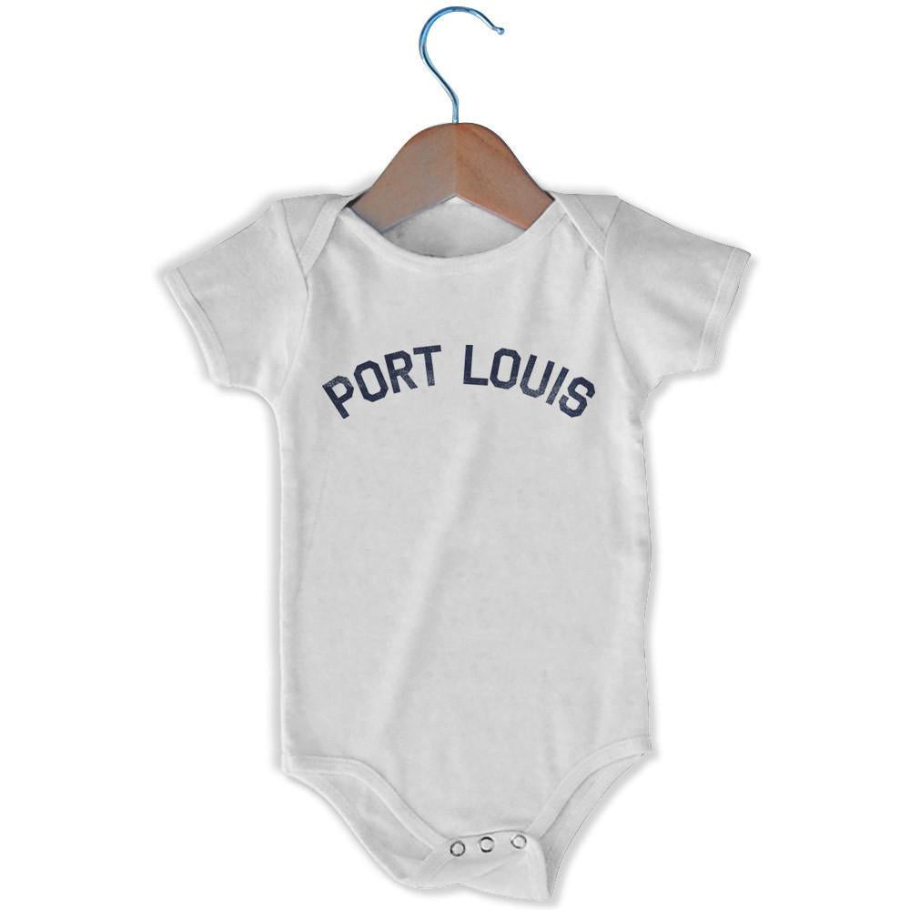 Port Louis City Infant Onesie in White by Mile End Sportswear