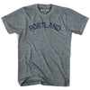 Portland City Vintage T-shirt in Athletic Blue by Mile End Sportswear