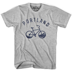 Portland Bike T-shirt in Heather Grey by Mile End Sportswear