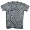 Praia Anchor Life on the Strand V-neck T-shirt in Athletic Grey by Life On the Strand