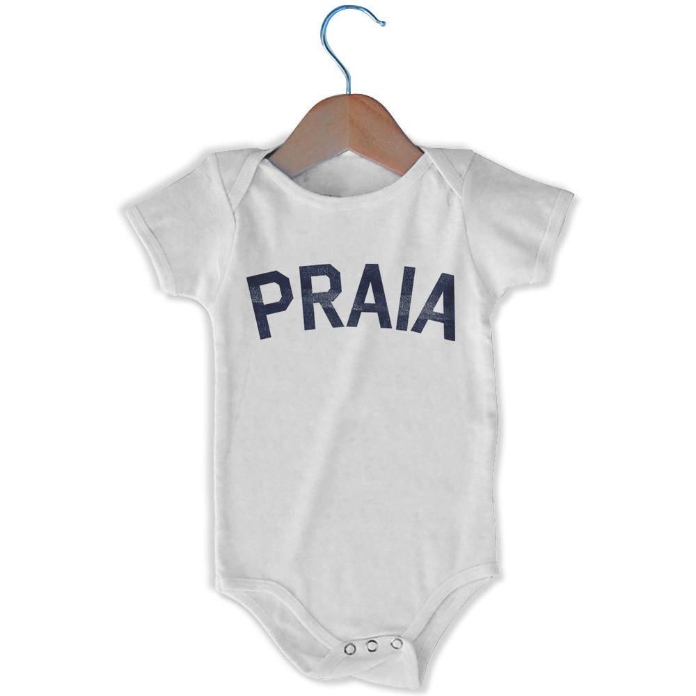 Praia City Infant Onesie in White by Mile End Sportswear