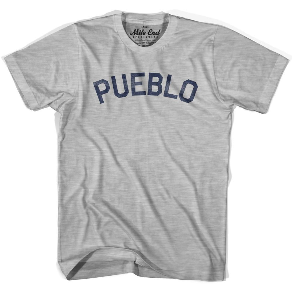Pueblo City Vintage T-shirt in Grey Heather by Mile End Sportswear
