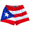 Puerto Rico Flag Womens & Girls Sport Shorts by Mile End in Red by Mile End Sportswear