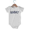 Rabat City Infant Onesie in White by Mile End Sportswear