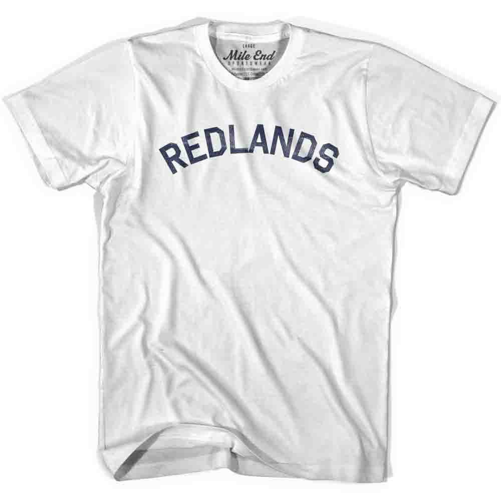 Redlands City Vintage T-shirt in White by Mile End Sportswear