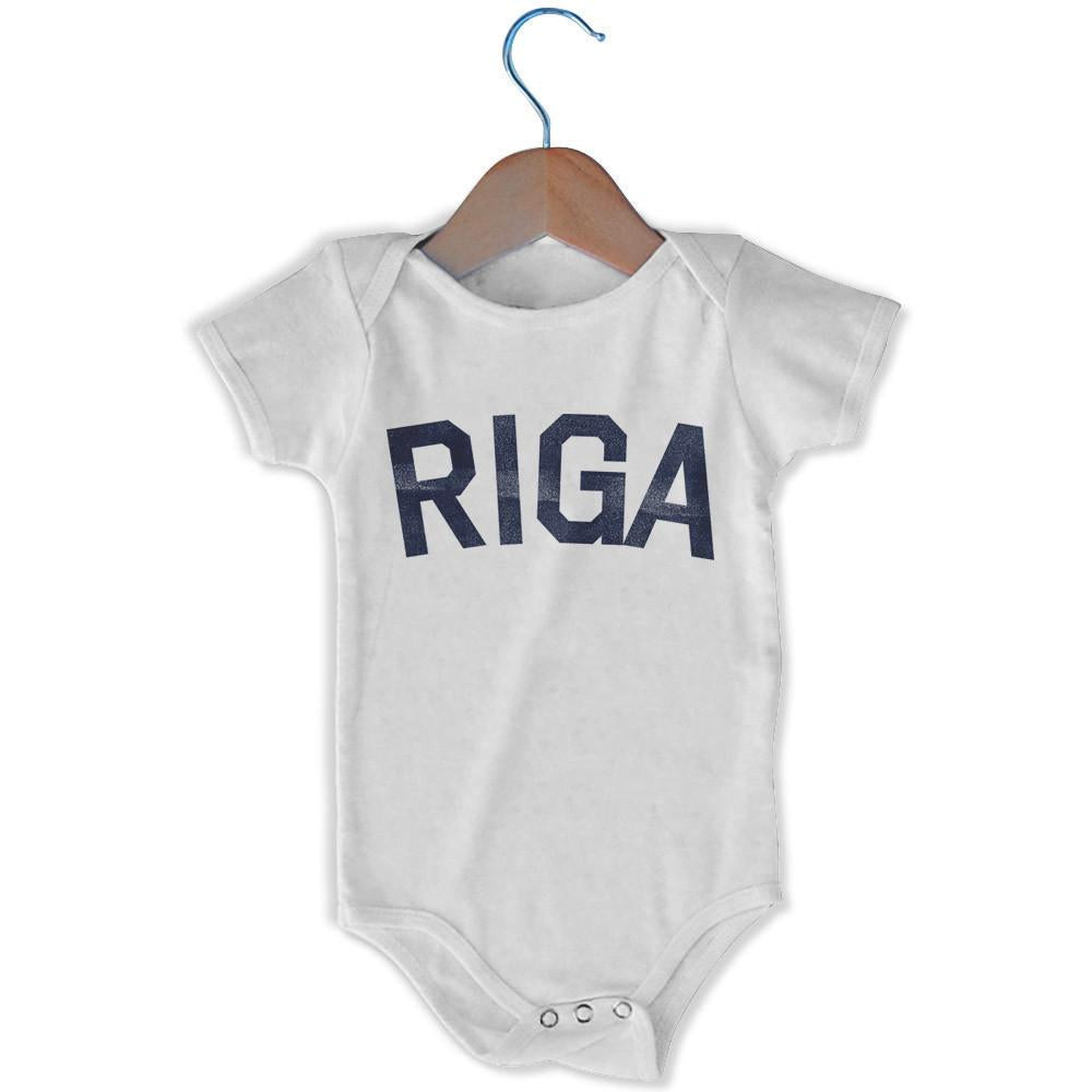 Riga City Infant Onesie in White by Mile End Sportswear