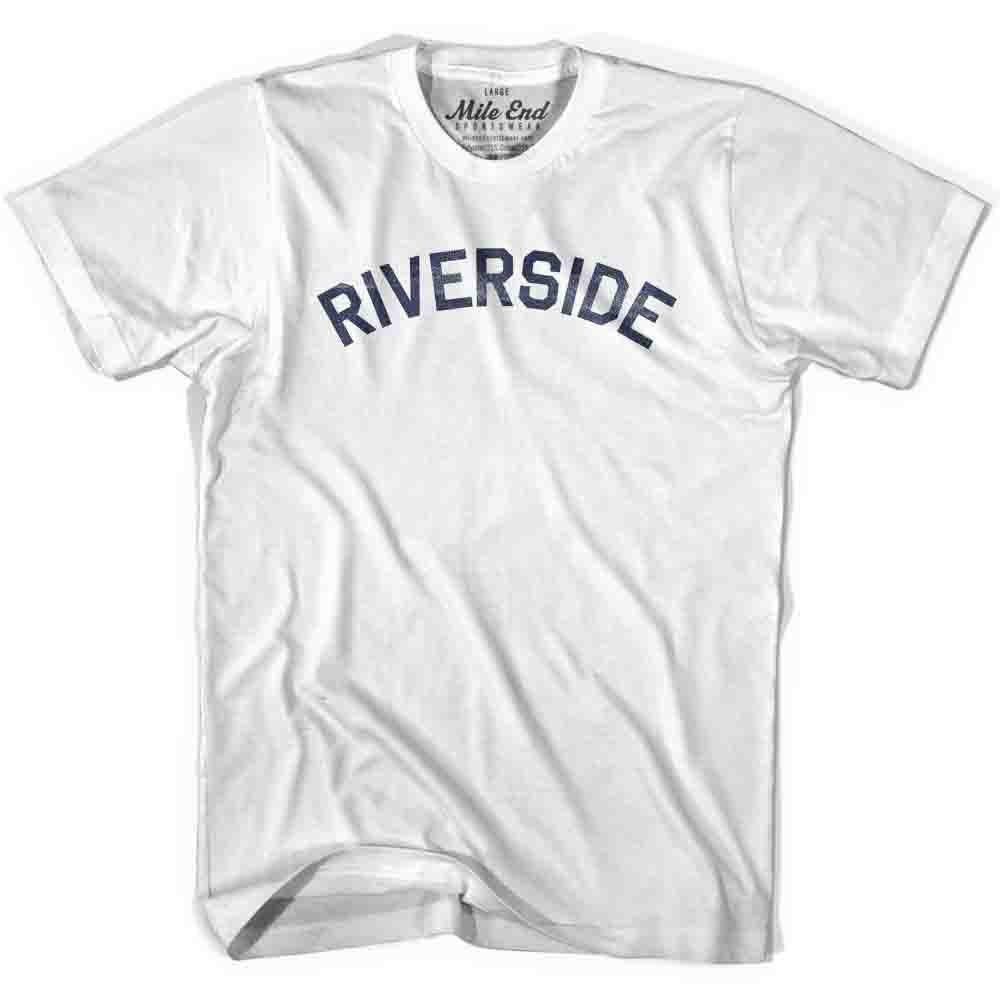 Riverside City Vintage T-shirt in White by Mile End Sportswear