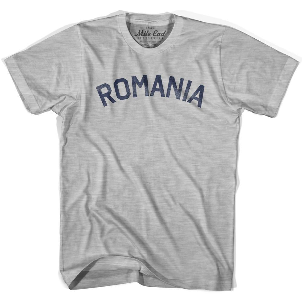 Romania City Vintage T-shirt in Grey Heather by Mile End Sportswear