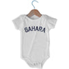 Sahara City Infant Onesie in White by Mile End Sportswear