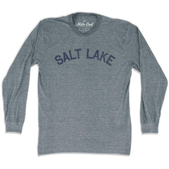 Salt Lake City Vintage Long Sleeve T-shirt in Athletic Grey by Mile End Sportswear