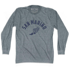 San Marino Track long sleeve T-shirt in Athletic Grey by Mile End Sportswear