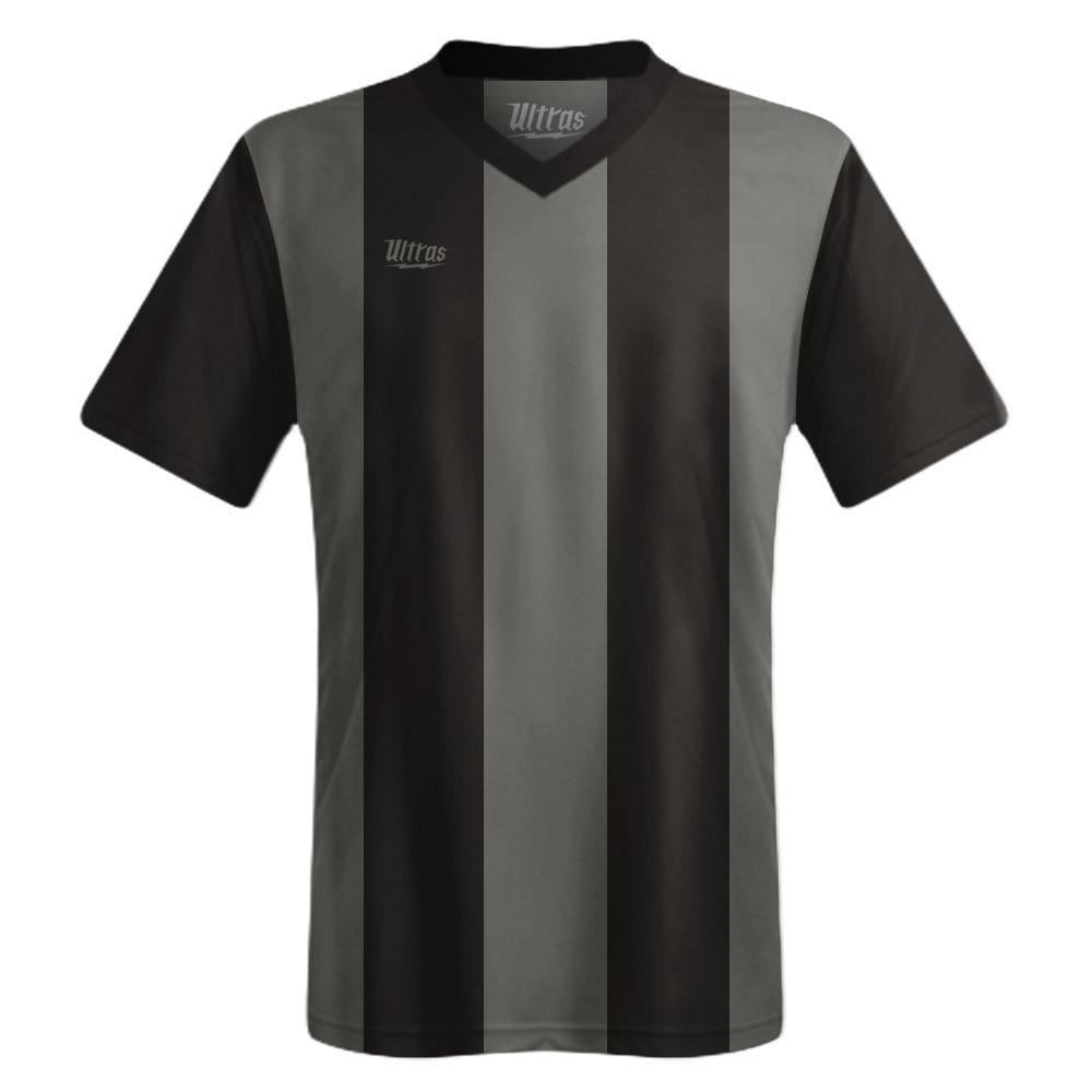 Ultras Custom San Siro Bold Team Soccer Jersey in Black/Dark-Grey by Ultras