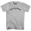 San Salvador City Vintage T-shirt in Grey Heather by Mile End Sportswear