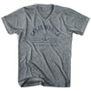 Santa Monica Anchor Life on the Strand V-neck T-shirt in Athletic Grey by Life On the Strand