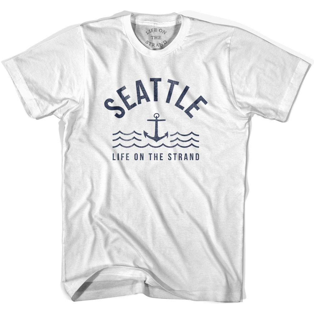 Seattle Anchor Life on the Strand T-shirt in White by Life On the Strand