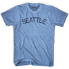 Seattle City Vintage T-shirt in Athletic Blue by Mile End Sportswear