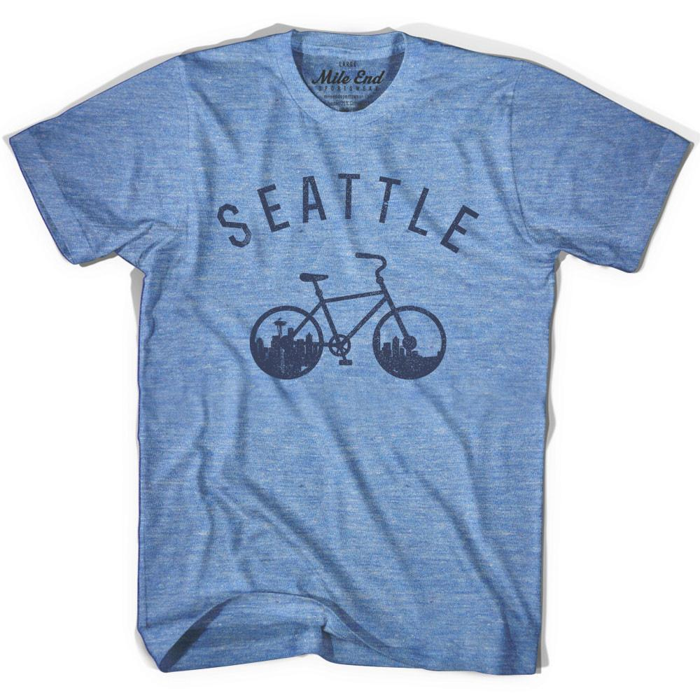 Seattle Bike T-shirt in Athletic Blue by Mile End Sportswear