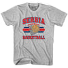 Serbia Basketball 90's Basketball T-shirt in Grey Heather by Billy Hoyle