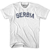 Serbia City Vintage T-shirt in Grey Heather by Mile End Sportswear
