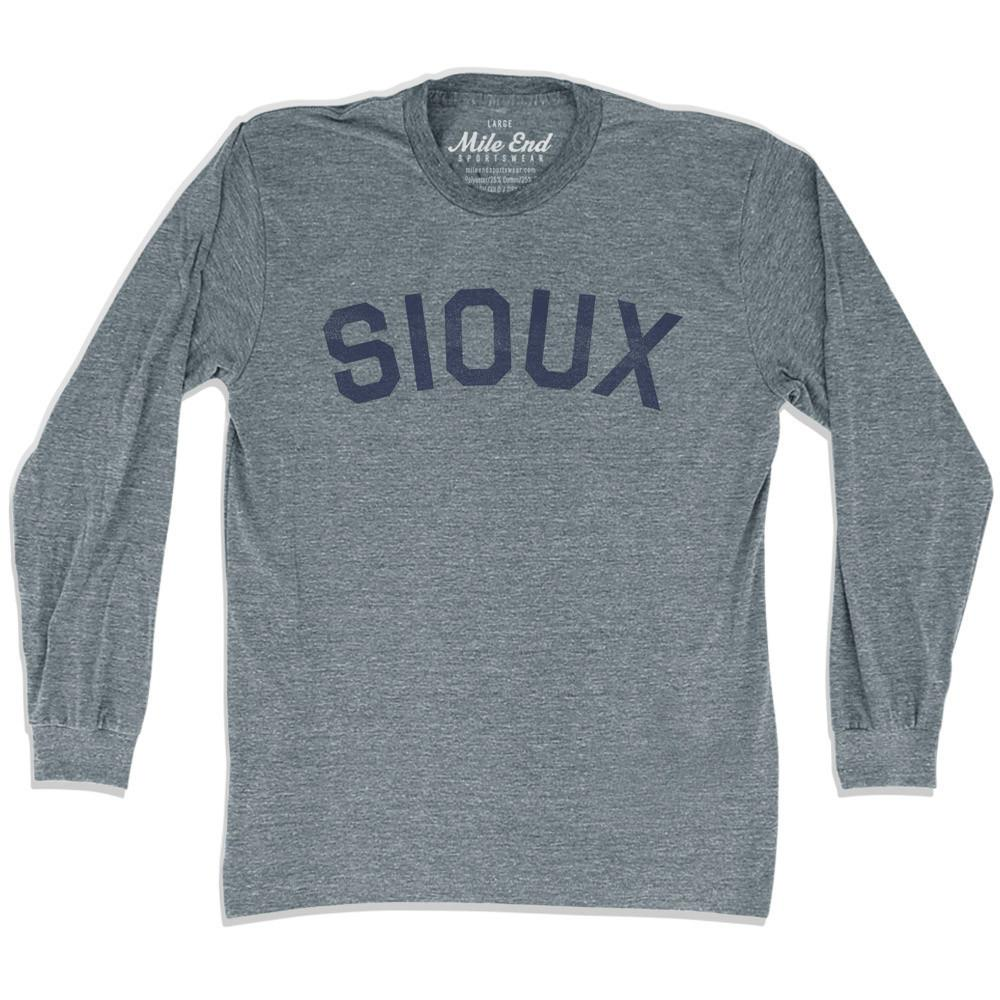 Sioux City Vintage Long-Sleeve T-shirt in Athletic Grey by Mile End Sportswear