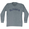 Slovakia City Vintage Long Sleeve T-shirt in Athletic Grey by Mile End Sportswear