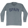 Spain City Vintage Long Sleeve T-shirt in Athletic Grey by Mile End Sportswear