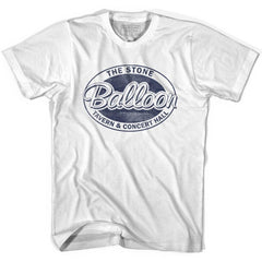 Stone Balloon Mug Night T-shirt in White by Harting Sign Co