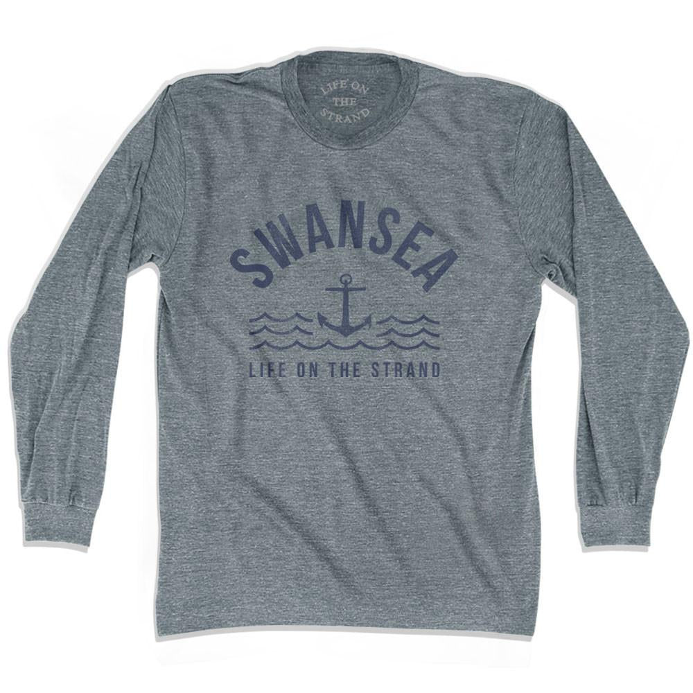 Swansea Anchor Life on the Strand long sleeve T-shirt in Athletic Grey by Life On the Strand