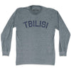 Tbilisi City Vintage Long Sleeve T-shirt in Athletic Grey by Mile End Sportswear